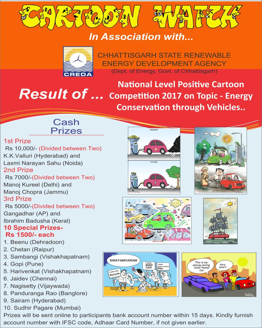 Result of Cartoon Competition Creda 2017